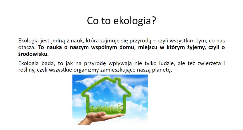 Co to ta ekologia?